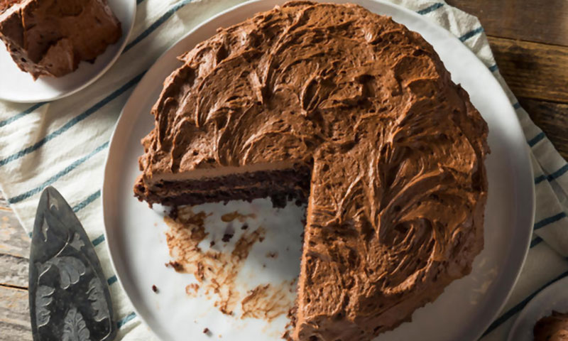 Eggless Chocolate Cake with Just 3 Ingredients! (Without Oven)