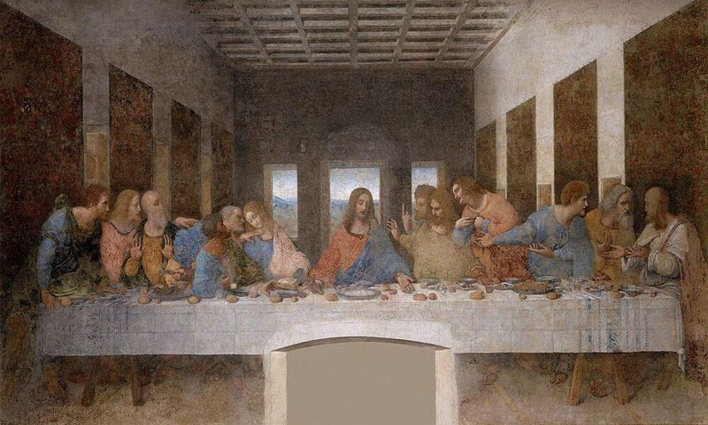 Leonardo Da Vinci's Last Supper (Made by Da Vinci)