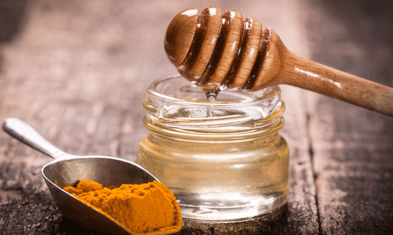 Turmeric + Honey.