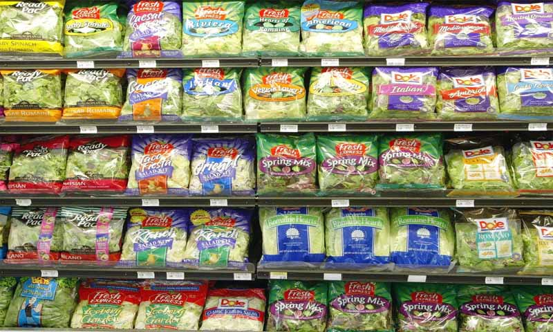 Prepackaged Salad Mixes