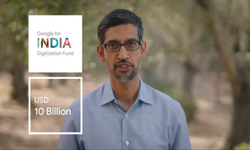 Google Plans to Invest $10billion in India