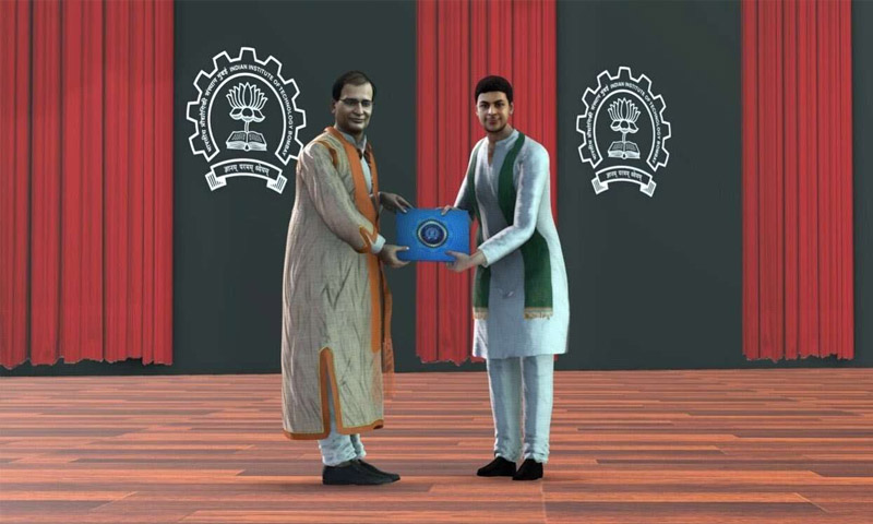 Convocation Ceremony with Digital Avatars in IIT Bombay