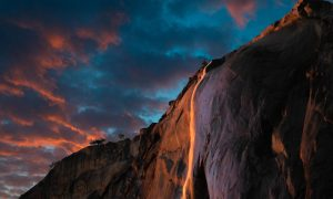 A Fire Waterfall: Nature's Wonder in California